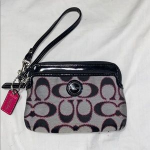 Coach Wristlet Wallet / Coin Purse